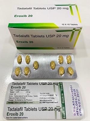 Generic Cialis (Tadalafil) Eroxib  20 MG D