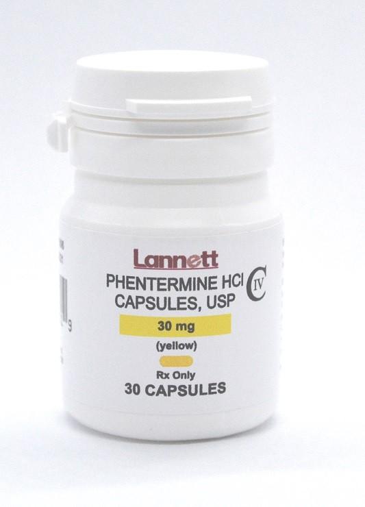 Phentermine HCI 30 mg Brand Lannett