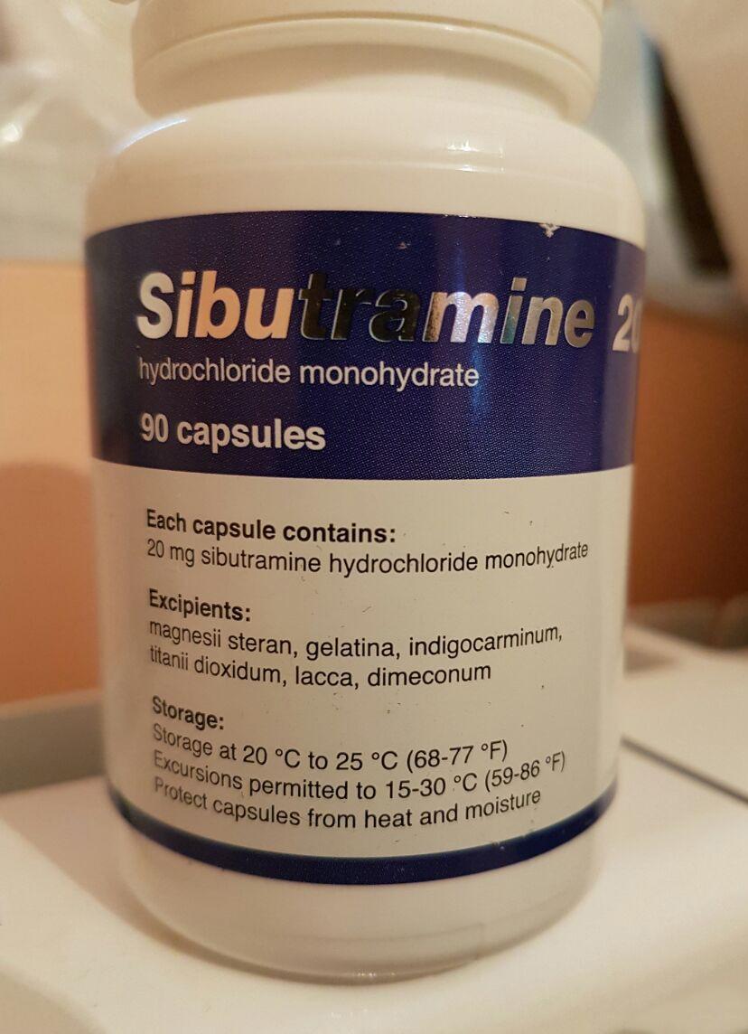 Generic Reductil (Meridia, Ectivia) 20 mg - packing 90 pills